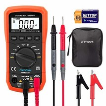 Crenova MS8233D Auto-Ranging Digital Multimeter Home Measuring Tools with Backli