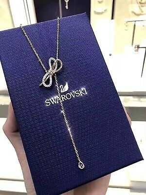 Swarovski crystal LIFELONG BOW bowknot pendant Necklace jewelry gift image 4