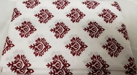 "Small Window Curtains Set:2 Tiers (29x36"")& Valance (58x14"")BURGUNDY DIA... - $17.81"