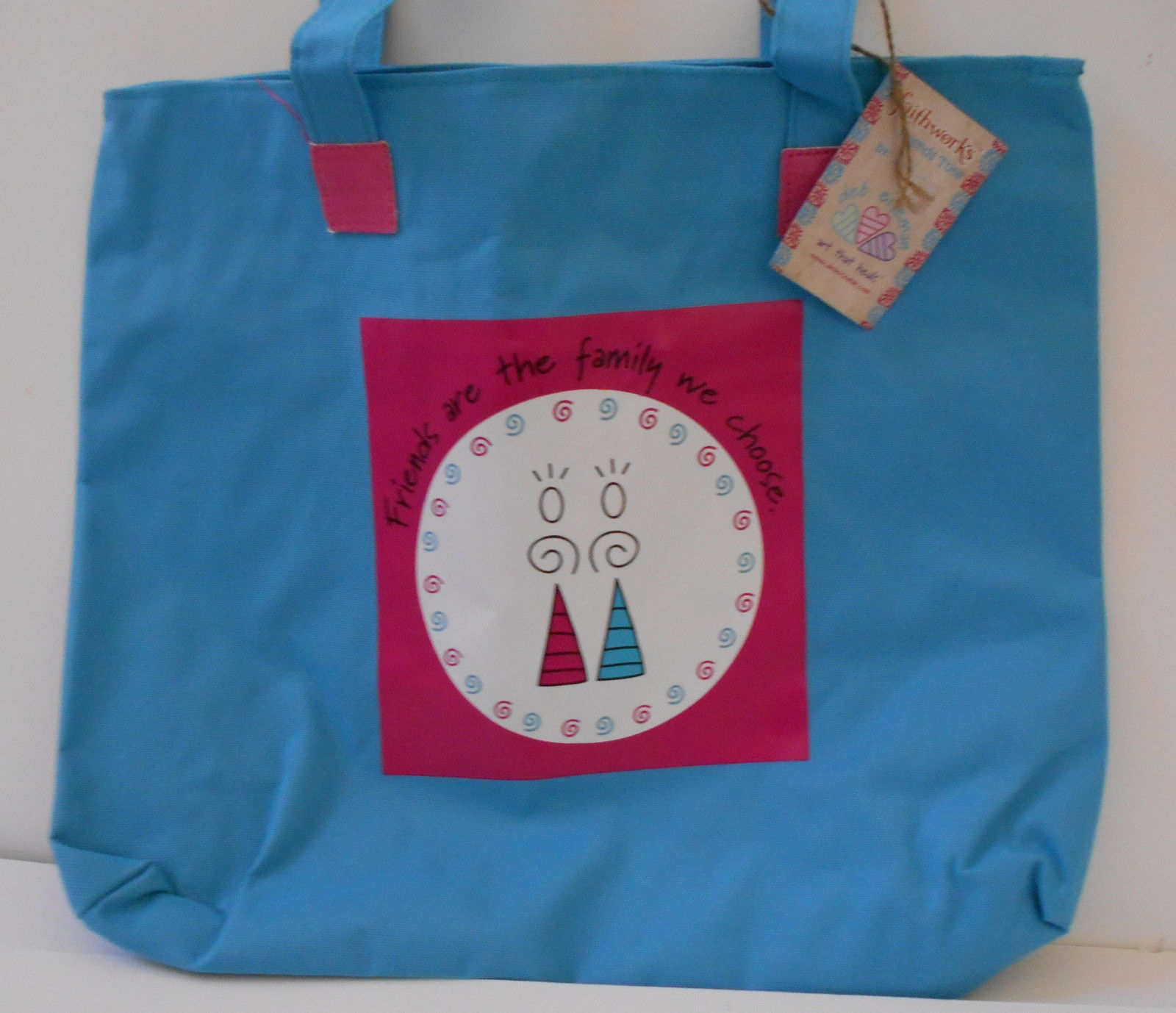 86b3c42a30a6 Tote Bag Blue Pink Faithworks Deb Eismen and 50 similar items
