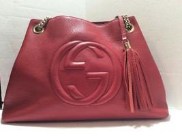 GUCCI Soho Leather Shoulder Bag Red 308982 - $1,089.00