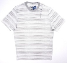 NEW AMERICAN RAG GRAY WHITE ENGINEERED STRIPED S/S CREWNECK TEE T-SHIRT ... - $2.77