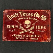 don't tread on me vintage aluminium sign high quality america man cave sign - $12.84