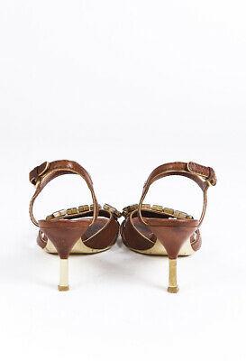 Miu Miu Crystal Leather Sandals SZ 38.5