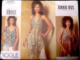 Anna Sui Sewing Pattern Vogue American Designer V2968 OOP Size 12-14-16-... - $9.99