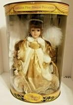 VINTAGE Dandee Collectors Choice Porcelain Doll Brunette Angel COA NIB N... - $43.65