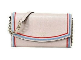 NWT KATE SPADE NEW YORK Eva Embroidered Wallet On A Chain Warm Beige WLR... - $97.02