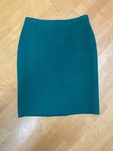 Talbots Kelly Green Wool Pencil Skirt Size 2 Petite - $11.88