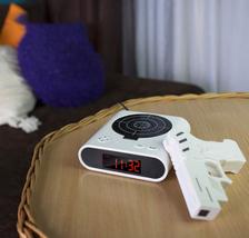 2020 Gadget Target Laser Shooting Gun Alarm Clock Digital Electronic Des... - $35.00