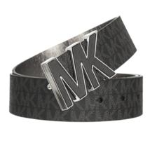 Michael Kors Women's Premium MK Logo Signature Plaque Faux Leather Belt 553504 image 2