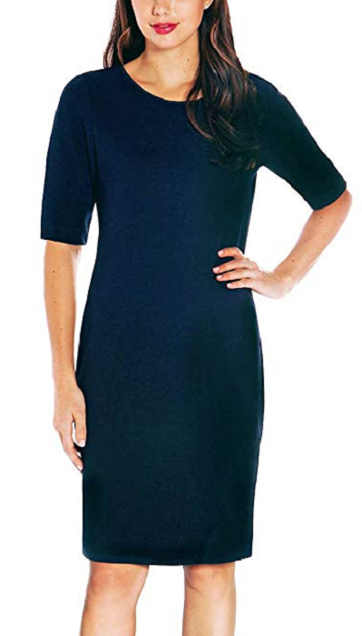 Mario Serrani Ladies' Knit Dress, Midnight Navy, Size S
