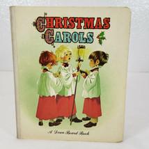 Vintage CHRISTMAS CAROLS Dean board book Anne Grahame Johnstone Art - $13.99