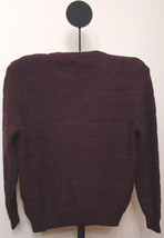 Nautica Ship Wreck Burgundy Red Men's Knit Pullover V-neck Sweater Size ... - $49.95