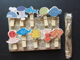 10pcs Birthday Special Gifts,Wooden Paper Clip,wood pegs,Pin Clothespin Crafts - $0.90