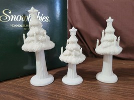 Dept 56 Snowbabies CANDLELIGHT TREES Set of 3 Trees #68861 - $14.00