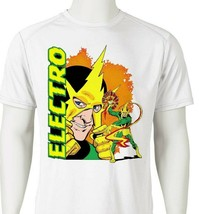 Electro Dri Fit graphic T-shirt moisture wicking superhero comic book SPF tee image 2