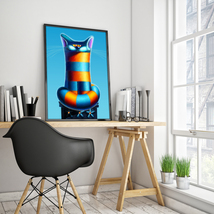 "Canvas ""Bastet"" 24x36"" / Modern Wall Art / Digital Print / Home & Office... - $220.00"