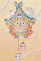 Hallmark Ornament Time For Easter Happy Face Chime Clock QEO8385 Vintage 1993 - $7.95