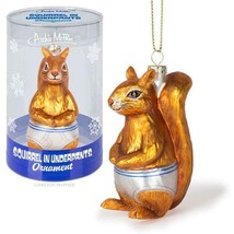 Squirrel in Underpants Blown Glass Christmas Ornament! - $12.08
