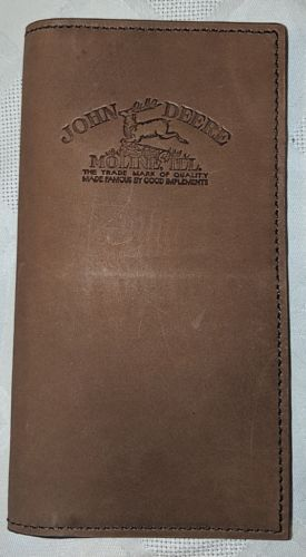 John Deere LP68086 Gem Dandy Brown Genuine Leather Checkbook Cover