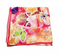 PANDA SUPERSTORE Butterfly Silk Scarf Gorgeous Shawl Scarves Elegant Scarves for
