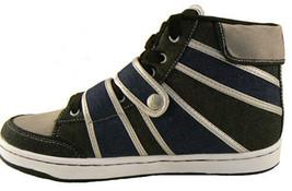 Public Royalty Black Blue Zaq High Top Denim Sneaker Shoes NIB image 1