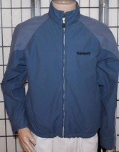 VINTAGE TIMBERLAND WEATHERGEAR Men's Small Blue Zip Jacket Coat Loaded EUC - $37.72