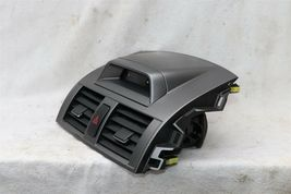 09-11 Toyota Corolla OEM Black Center Dash Top Trim Bezel Air Vents W/ Clock image 5