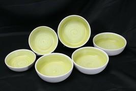 Franciscan Hacienda Green Soup and Fruit Bowls Lot of 6 - $68.59