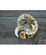 Brass Sundial London Marine Compass Maritime Camping Design Pocket Gift ... - $50.20