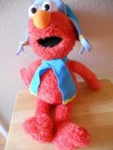 "GUND Plush Elmo 22"" Tall With Hat & Scarf 46094 Winter VGC CUTE 2006 - $13.09"