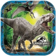 Jurassic World Lunch Dinner Paper Plates 8 Per Package Birthday Party Su... - $7.87
