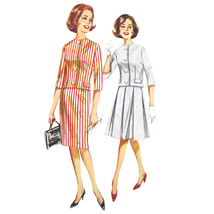 Vtg 60s Butterick 2258 Misses Suit 3/4 Sleeve Jacket Pleated Slim Skirt ... - $6.95