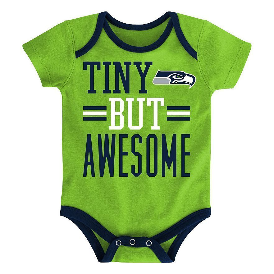 3aca0888d86 NWT Seattle Seahawks NFL Football Baby Boys Bodysuit Creeper Romper 12 18  24 Mo.