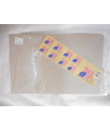 American Flag Booklet Pane of 20 U S Stamps Package - $9.57
