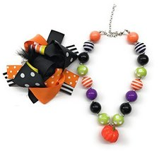 Cute Kids Clothing Newborn Toddler Girl/Girls Halloween Hair Bow Beaded ... - $17.99