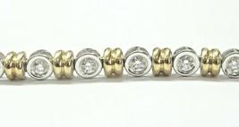 Natürlich Rund Brillant Diamant Zweifarbig Blende Set Tennis Armband 1.2... - $1,715.18
