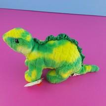 Ty Beanie Babies Spikey Stegosaurus 2007 Dinosaur Yellow Green Plush  - $27.72