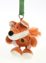 NICI Fox Brown Plush Key Chain Stuffed Animal Bean Bag Key Ring 3 inches - $11.00