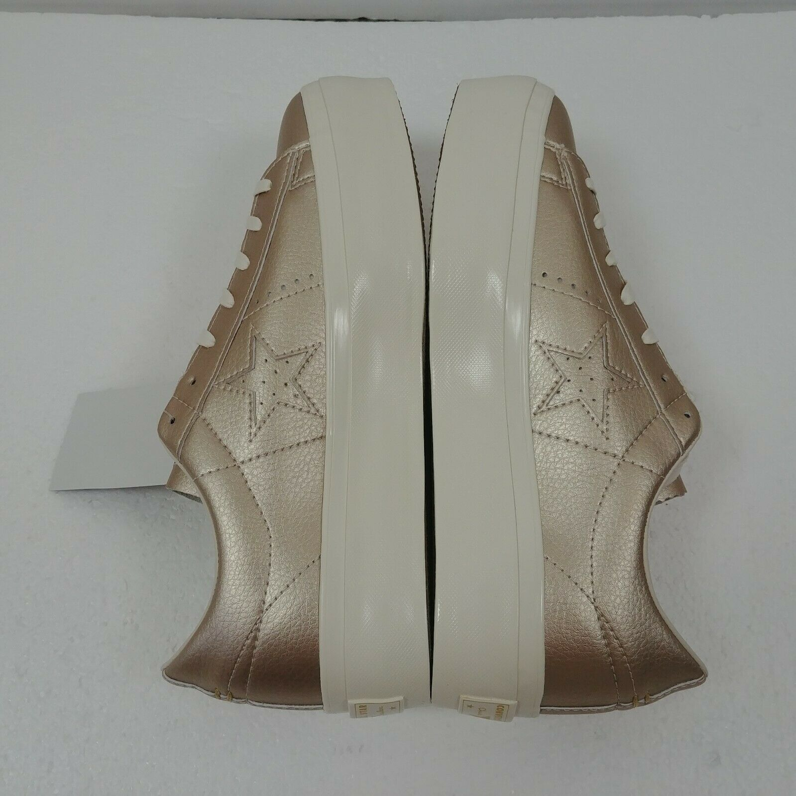 Converse One Star Platform Ox Low Top Shoes Gold 559924C Womens Size 10 NWT image 4