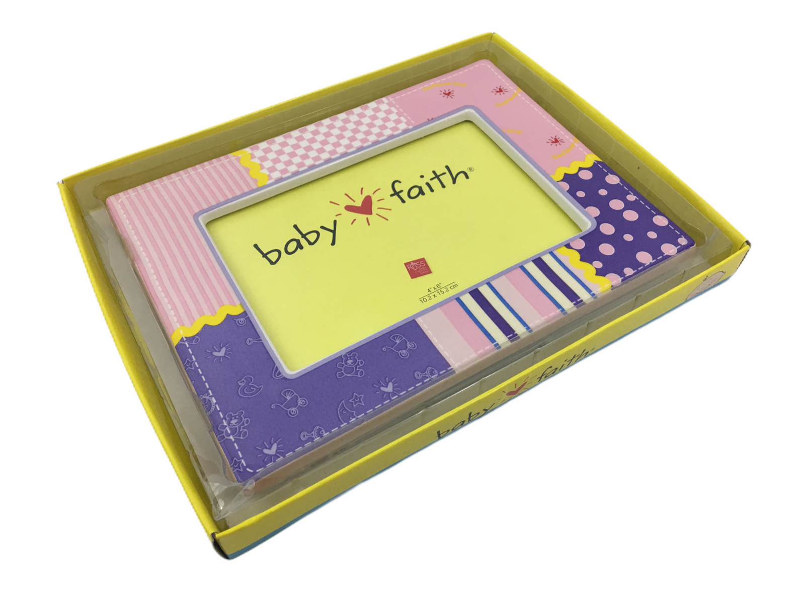 Russ Berrie Baby Faith 4 x 6 Ceramic Multipattern Photo Picture Frame - $24.63