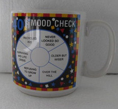 "40's ""MOOD CHECK"" Birthday Novelty Coffee Collectible Mug by Papel Freel... - $7.99"