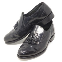 Wingtip Loafers SOLE HEEL REPLACED Oxford SlipOn Shoes 9 D Black Leather... - $29.66