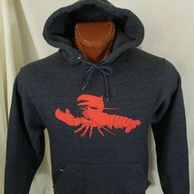 The Maine Diner Wells Maine Lobster Charcoal Gray Sweatshirt Hoodie S Small - $22.61
