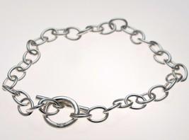 Sterling 925 Silver Hallmarked Belcher Link Bracelet T Bar and Ring 7.5 inch,  - $19.78