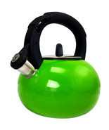 Mr Coffee Piper Shine Stainless Steel Whistling Tea Kettle in Green - €37,75 EUR
