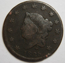1825 Large Cent Liberty Coronet Head Coin Lot # MZ 4086