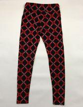 LuLaRoe OS Leggings Black Red Pink Gradient Hearts One Size Crisscross   image 3