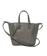 NEW GUCCI 449241 GG Microguccissima Leather Small Crossbody Bag, Gray - $710.00