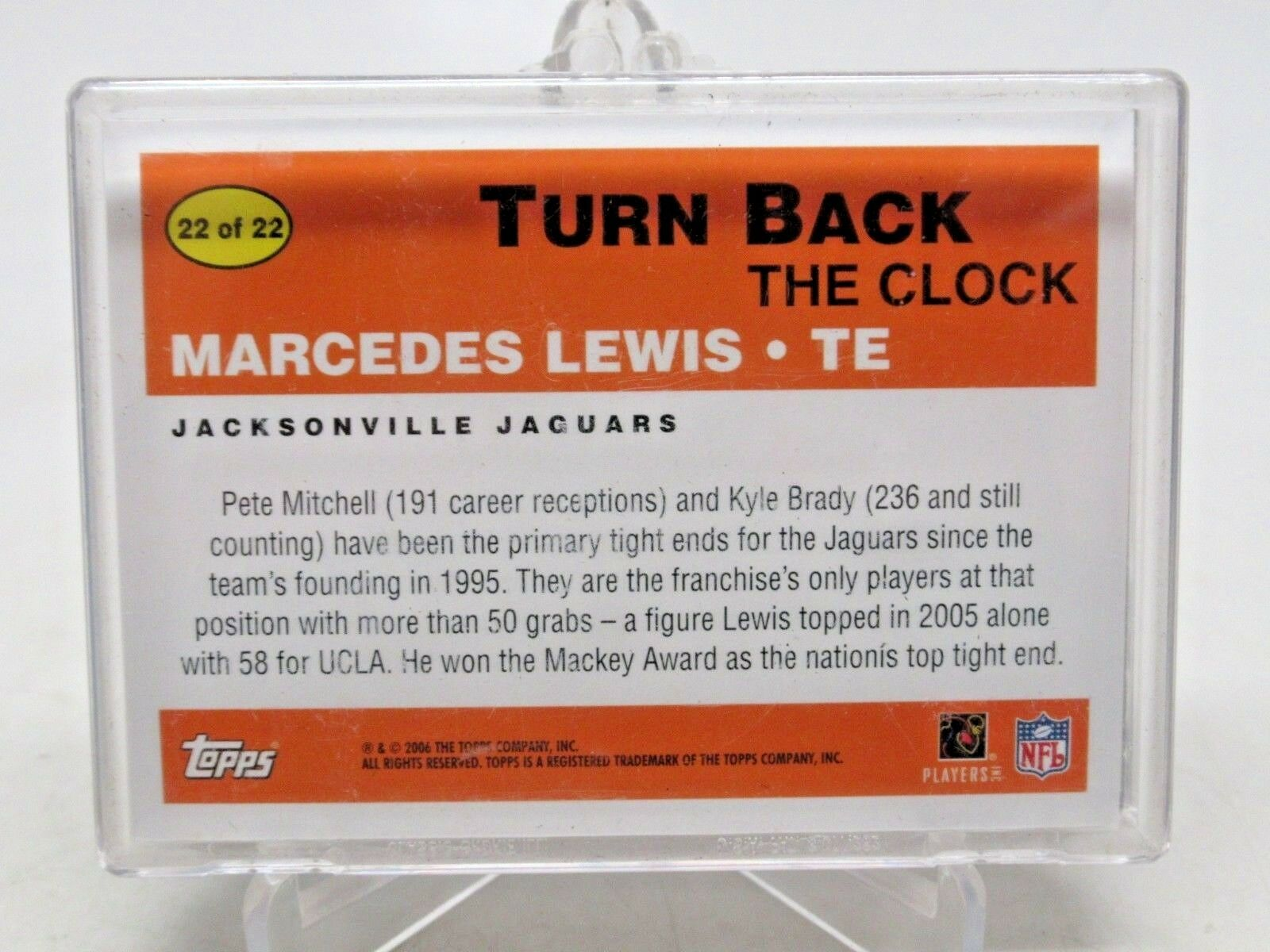 2006 Topps Football Turn Back The Clock Subset 1-22 NM/M